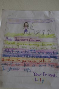 """I want to be a writer when I grow up."""